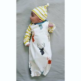 Wholesale Baby Cartoon Christmas sleeping bag Newborns Full Elk sleeping bag baby Winter Swaddle Blanket Wrap baby sleeping bag with hat