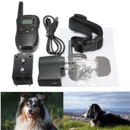 Wholesale Newest Best Training Collars Rechargeable And Waterproof Shock Vibra Remote Control LCD Electric Pet Dog Training Collars PTC047