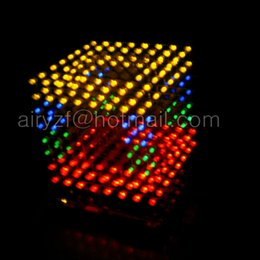 Wholesale DIY D S LED multicolor Light Cube With excellent Animations D CUBE x8x8 D LED Kits Junior D LED Display Christmas Gift