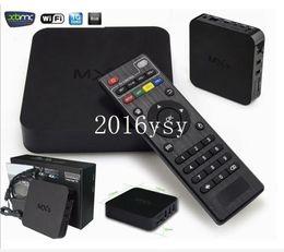 Acheter en ligne Amlogic android-dhl libre de 20pc / lot New MXQ Android TV BOX MX Amlogic S805 Quad Core IPTV Android encadré 4.4 TV Kitkat 4K 1GB / 8GB XBMC KODI WIFI