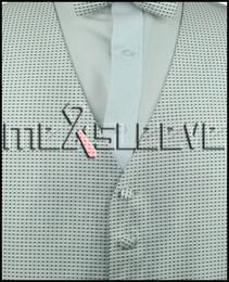 2017 boutons de manchette de smoking Vente en gros-promotion Nouveau Hommes Tuxedo Suit Vest Ascot manchette mouchoir Livraison gratuite mariage invité robes boutons de manchette de smoking ventes