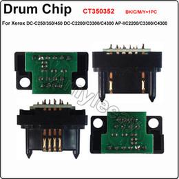 Wholesale CT350352 drum Chip K BK C M Y for Fuji Xerox DC C250 DC C2200 C3300 C4300 AP IIC2200 C3300 C4300 laser printer drum unit chip