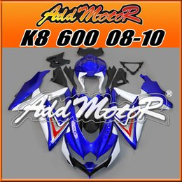 Wholesale Addmotor Bestselling Injection Mold Fairings Fit Suzuki GSX R600 GSX R750 GSXR600 K8 BodyKit Blue White S6865 Five Gifts