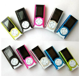 Wholesale Tragbare Glänzende Mini USB Clip LCD Screen MP3 Media Player unterstützung GB Micro SD Karte Sport MP3 Musik player MP3