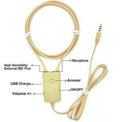 Wholesale best quality big voice Watt Powerful Handsfree Loop nono Earpiece any mobile compatible W Inductive Neckloop