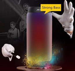 HOT AEC colorful Waterproof Bluetooth Speaker Wireless NFC Super Bass Subwoofer Outdoor Sport Sound Box FM Portable Speaker black white red