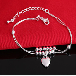 Wholesale Hot 925 Sterling silver Chain Bracelet Free shipping Fashion Jewelry For Women Girl 10pcs lot