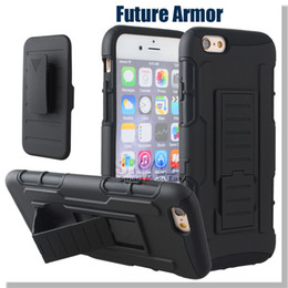 Wholesale Iphone Case Future Armor Case Impact Hybrid Robot Case S7 Case With Belt Clip Holster Kickstand Combo Case LG G Stylo LS770 Opp Package