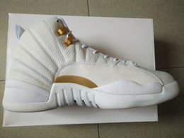 Wholesale basketball shoes retro xii ovo white men athletic shoes retail