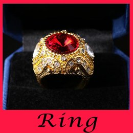 Wholesale Golden crown ring Men with glass stones The original single zircon plate refers to Europe and the United States of big shop sign s exports