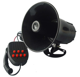 Wholesale 12V W db Tone Wehicle Boat Car Motor Motorcycle Siren Loud Car horn Auto Speaker Alarm YA284