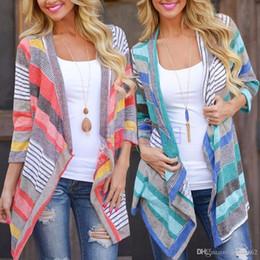 Promotion manteau pull à manches Boho Femmes à manches longues Cardigan Loose Sweater Outwear Veste en tricot Coat femme été de l'épaule Tops maxi robe