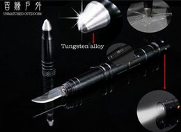 Wholesale Tungsten alloy defence pen T6 Aluminum Military Tactical Pen break glass Multi Tooll rescue tool led knife portabel tool