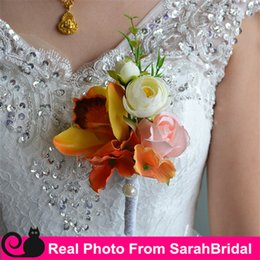 Wholesale Cheap Beach Bouquets Bridal Brides Bridesmaid Groom Best Man boutonniere Flowers for Bohemian Delicate Organic Rustic Wedding