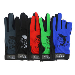 Wholesale Fishing Wear Gloves Pairs Outdoor Anti Slip Gloves for Fishing Cut Fingers Luva Pesca Sailing Glove Colors