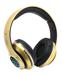 Wholesale The NEW led the LED flash STN L bluetooth headset stereo motion mp3 wireless headset General all phones EM