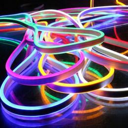 Wholesale DC24V LED Neon Light Single Color Bar Signs SMD2835 Flex Strip LED Neon Rope Light LEDS Low Voltage LED Neon Strip Light Kits mm mm