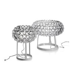 2017 tableau acrylique clair Foscarini Caboche boule Lampes de table LED Light Chandelier par Patricia Urquiola + Eliana Gerotto, Effacer Trasparent Balle Acrylique Night Light tableau acrylique clair sur la vente