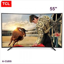 TCL 55 inch Curved surface high color gamut true 4K Smart TV ,14 Nuclear UHD ultra high-definition LCD TV resolution of 3840 * 2160