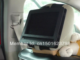 Wholesale Car Headrest Mount Holder for Swivel and Flip Style Inch Portable DVD Players Black Safe for Travel