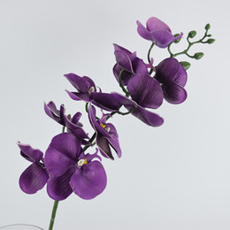 New Arrival 39.3'' Artificial Butterfly Orchid Flower PU Latex Material Real Touch Phalaenopsis Wedding Decoration Flores 5 Pcs