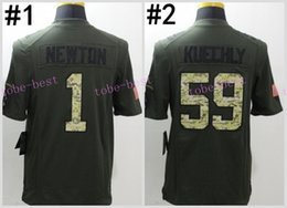 Wholesale Cam Newton Green Salute TO Service Elite Football Jerseys Best quality Authentic Jersey Embroidery Logo Size M XL Can Mix Order