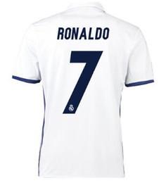 Thai Quality Customized 7 RONALDO Soccer Jerseys,discount Cheap 8 KROOS Football Jerseys,16-17 MEN 9 BENZEMA 11 BALE Football Shirts TOPS