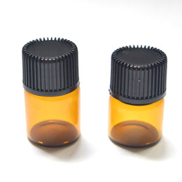 Wholesale Small Glass Amber Bottle With Pull Orifice Rducer Screw Cap Mini mm Empty ml dram Essential Oil Bottle Clear Vials