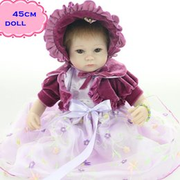 New Gift Brinquedos About 18Inch 45 cm Silicone Reborn Baby Dolls For Sale Elegant Reborn Baby Doll Kit For Child Bebe Boneca