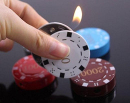 Wholesale lighter vintage refillable cigarette lighter tobacco antique flip top Poker Chip