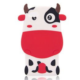 Wholesale Hot New Products for New Arrival Iphone Milk Cow Soft Silicone Gel protactive Case