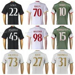 Wholesale 2016 Thailand AC Milan Jersey Soccer Custom Uniform Kits Player Version Football Shirt Men ELSHAARAWY BALOTELLI KAKA BACCA