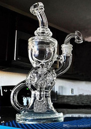 Wholesale Bong New high quality torus and Klein Recycle glass bong Fab egg Holes mm joint High quality Thick Glass hitman oil rig