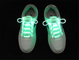 500pcs 10 designs 1pair=2pcs LED Flashing shoe laces Fiber Optic Shoelace Luminous Shoe Laces Light Up Personality Shoes lace D637