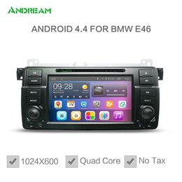 Wholesale Car Radio Bmw E46 Android - 1024*600 Quad core In-dash Car DVD Player Stereo Android 4.4 For bmw e46 Free EU shipping NO TAX Bluetooth gps navigation EW801PQH