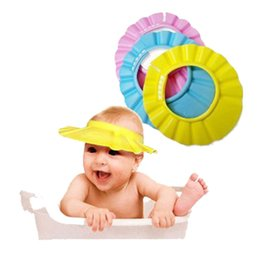 2016 Baby Childen Kids Adjustable Shampoo Shower Waterproof Cap Baby Bathing Protection Eva Hat 3 Colors