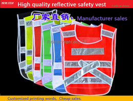 Wholesale breathable fluorescent mesh fabrics reflective safety vest cycling work vest printable