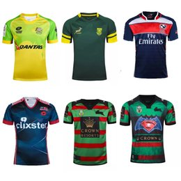 Wholesale Rugby jersey Australian USA South Sydney South Africa Malaysian Rugby clothing size S XXL