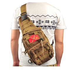 Wholesale Camouflage tactical chest bags outdoor his backpack special multi function portable one shoulder saddle bags travel saddle bags