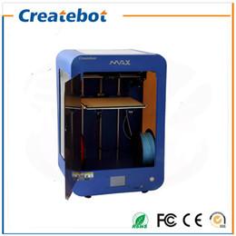 Createbot machine d'impression Max Max Taille 280 * 250 * 400MM avec heatbed, écran tactile avec double extrudeuse 8 Go Carte SD et 1 Roll Filament à partir de double filament fournisseurs