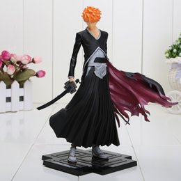 Wholesale Japanese Anime BLEACH ichigo PVC Action Figure Toy Doll Xmas Gift for kids Gift approx cm with box