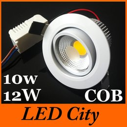 Newest !!10W 12W Dimmable Led COB Recessed Lights 120 Beam Angle High Power Chip Indoor Warm Pure Cool White AC 110-240V+Drivers