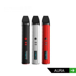 Wholesale Smiss aura dry herb new vaporizer pen black red white color mah battery replaceable chamber usb charging