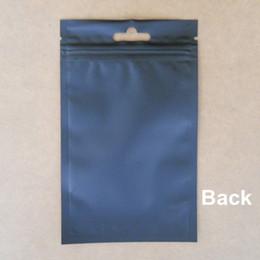 Bolsas de embalaje reutilizables en venta-9 * 15cm 100 piezas / lote Negro del sello auto del papel de aluminio con cierre de cremallera de la bolsa de embalaje, Claro esmerilado Poli resellable de Mylar de la cremallera del bolso del paquete