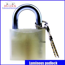 Wholesale 2016 MM Luminous padlock power lock boxes Fluorescence padlock Industrial Safety Lock Management new arrival practice lock