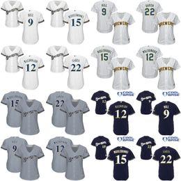 Wholesale women Jean Segura Mark Rodgers Cecil Cooper Matt Garza Milwaukee Brewers Baseball Jersey stitched size S XL