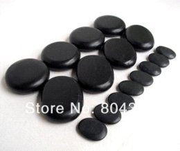 Wholesale hot sell Massage stones massage lava Natural Energy massage stone set hot spa rock basalt stone