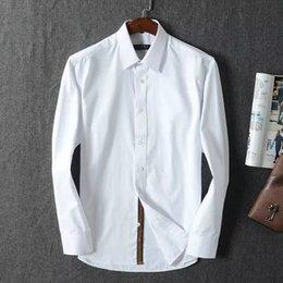 Wholesale The new men shirt leisure pure color long sleeve men age season cotton shirts men dress code number M XXXL size