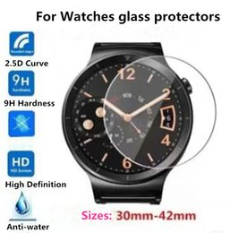 Wholesale High Quality Tempered Glass Screen Protector for iwacth mm mm LG watch Samsung gear Huawei watch Moto watch watch SW Fitbit