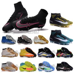 Wholesale Mens High Ankle football Boots ACC MaGIsta ObRa orDEn II Soccer shoes HERITAGE SuPERfly IV V FG MerCURial CR7 cleats shoes HypeRVEnom